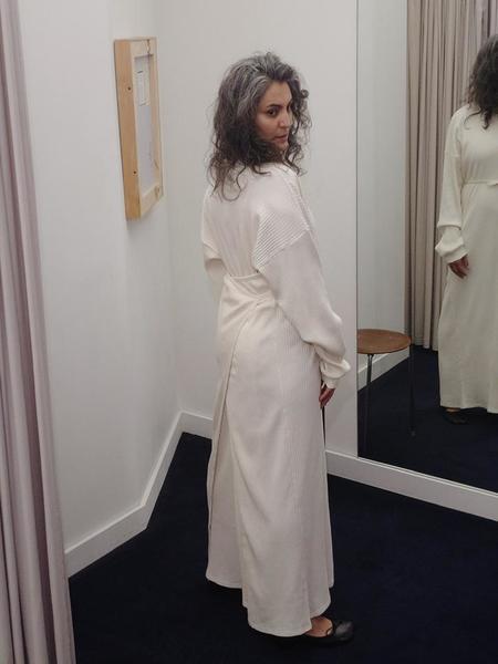 Baserange Shaw Long Sleeve Kaftan - Off White
