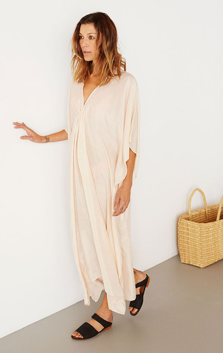 two-nyc Silk pale pink caftan