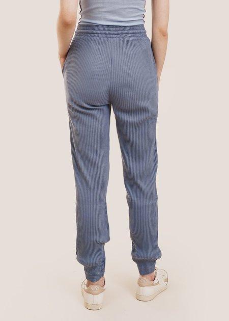 Baserange Rib Sweat Pants - Bailu Blue