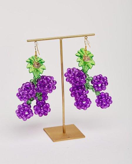Susan Alexandra Grape Slushie Earrings - purple