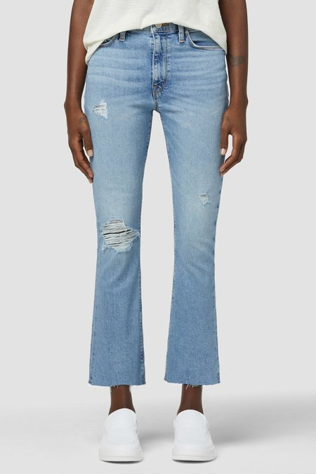 Hudson Jeans Barbara High-Rise Bootcut Crop Jean - Summertime