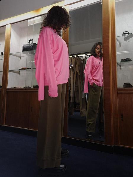 Maison Margiela MM6 Doubled Long Sleeve Shirt - Neon Pink