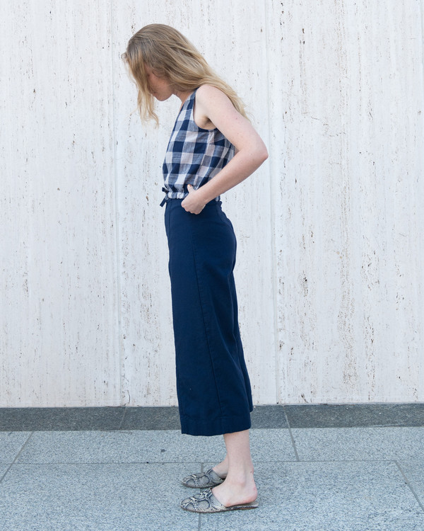 Esby LUCIA SEAMED PANT - NAVY