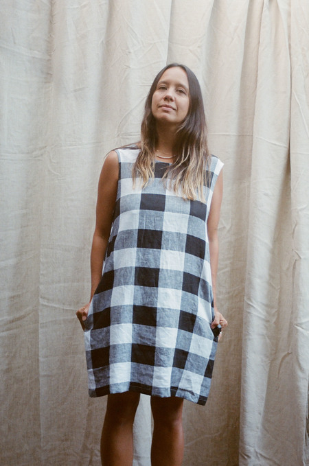 Mimi Holvast Pinafore dress - Giant Gingham