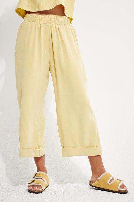 Back Beat Co. Tencel Fleur Pants - Lime