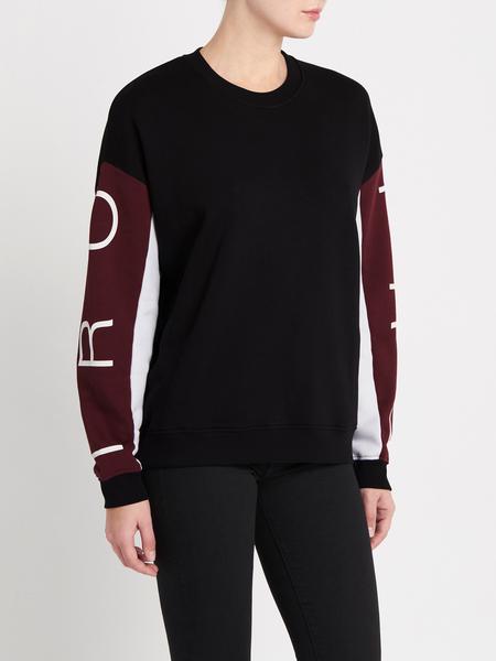 IRO Coline Sweatshirt - Black/Burgundy