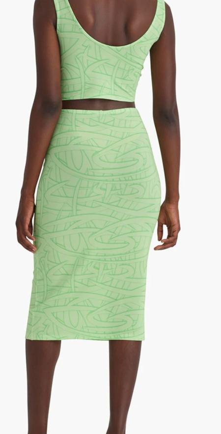 paloma wool george skirt - green