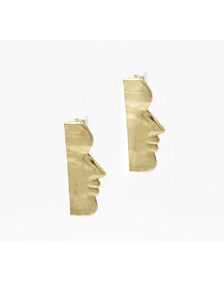 Open House Fille earrings in brass