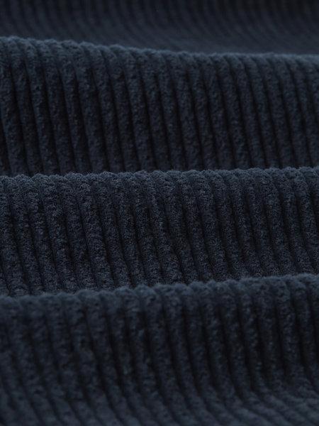 Wax London Jumbo Cord  Whiting Overshirt - Navy