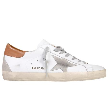 Golden Goose Super-Star Leather Upper And Heel Suede Star And Heel SNEAKERS - WHITE/ICE/LIGHT BROWN