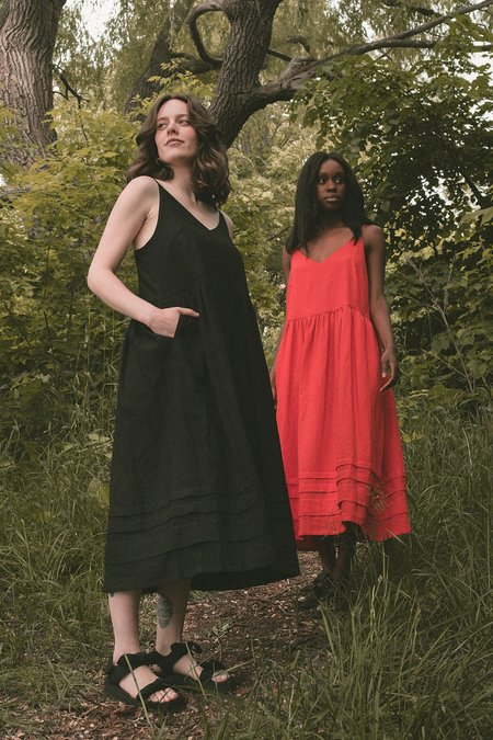 Ursa Minor Studio Delphine Dress - Tomato