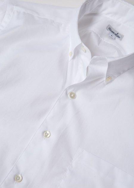 Steven Alan Short Sleeve Single Needle Shirt - White Poplin