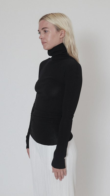 Issey Miyake Cotton Baguette A-POC Long Sleeve Top - Black