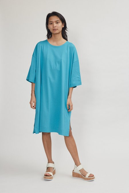 Issey Miyake Easy T Dress - Turquoise Blue