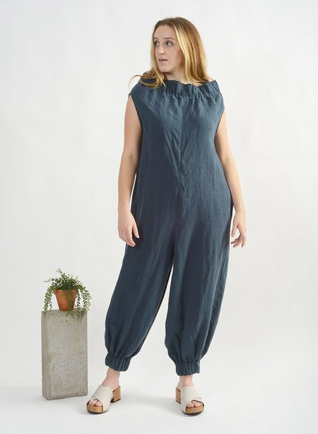 Meg Elastic Jumpsuit - Petrol