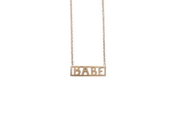 Winden Babe Necklace YG