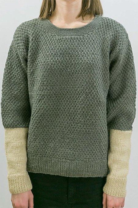 Tsuyumi Wool Pullover - Grey/Cream