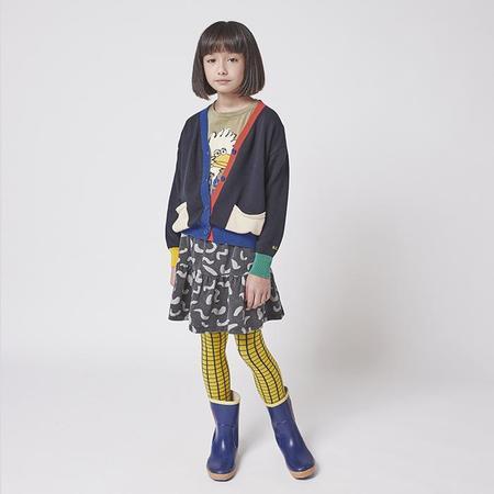 kids Bobo Choses Child Fleece All Over Shapes Print Skirt - Grey