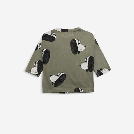 kids unisex Doggie Baby Long Sleeve T-Shirt - Dark Green