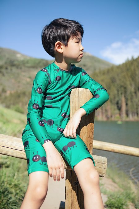 Hugo Loves Tiki Ants Rashguard - Green