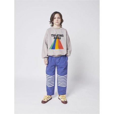 bobo choses stripes chino pants - royal blue/white stripes