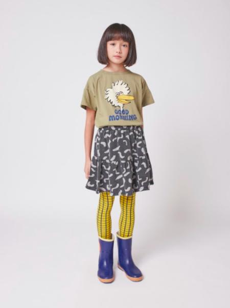 kids Bobo Choses Shapes Fleece Skirt - black