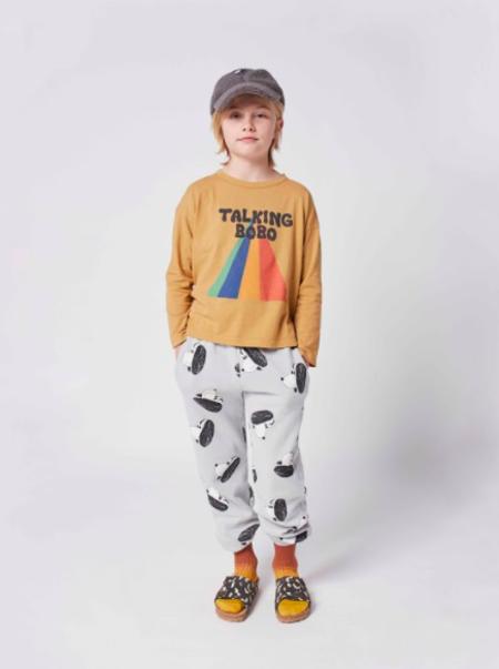 kids Bobo Choses Talking Bobo Rainbow Tee - yellow