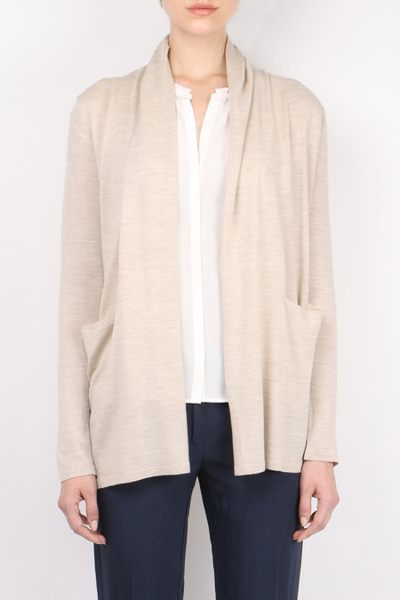 Allude Casual Roll Collar Cardi