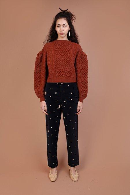 Meadows Bramble Knit Sweater - Terracotta