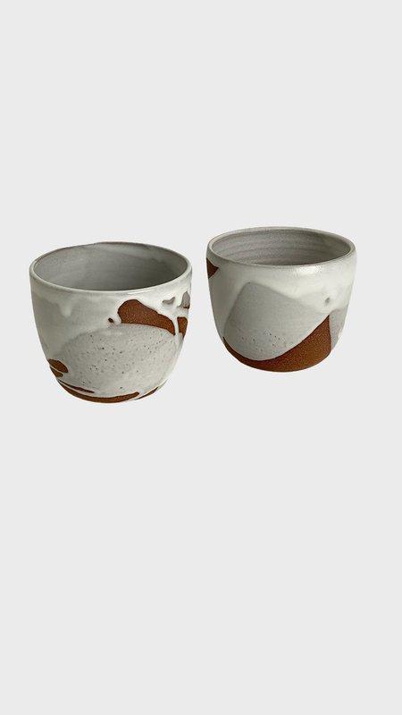 A.Cheng Medium Splash Planters - White