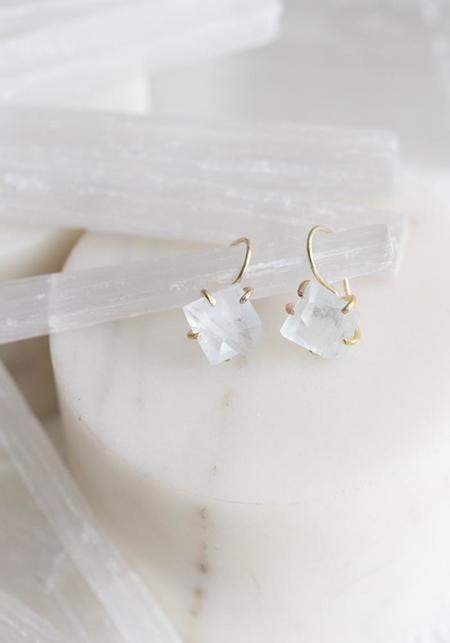 Variance Objects Aquamarine Hook Earrings - 14KT-18KT Gold