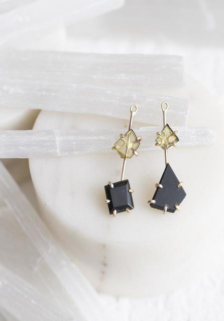 Variance Objects Tourmaline and Black Jade Drops - 14KT/18KT Gold