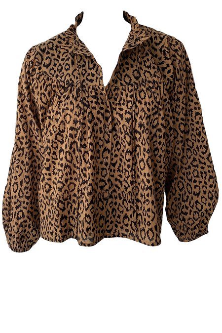 Emerson Fry Emmaline Blouse -  Vintage Leopard