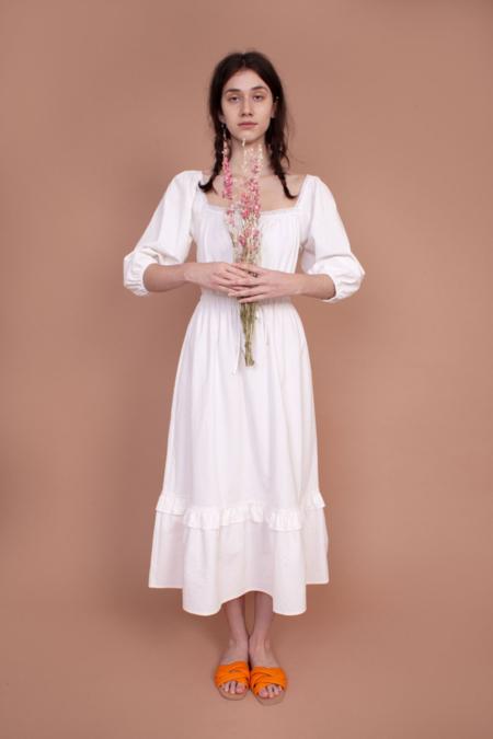 Meadows Francee Dress - White