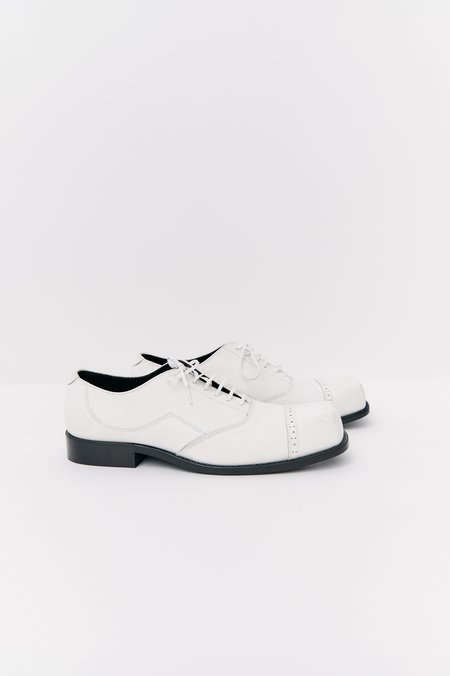 [Pre-Loved] Comme Des Garcons Leather Oxfords - White