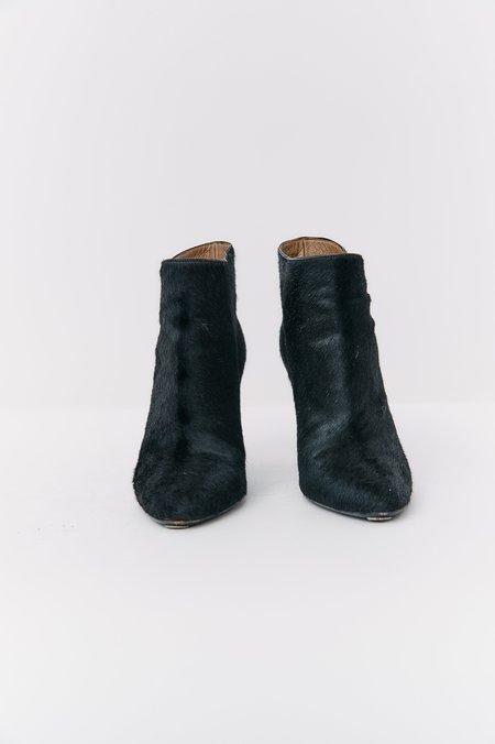 [Pre-Loved] Jill Stuart Pony Hair Ankle Boots - Black