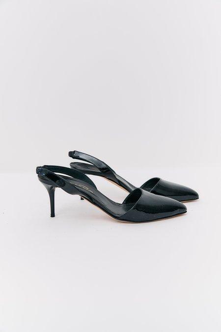 [Pre-Loved] Oscar de la Renta Patent Leather Heels - Black