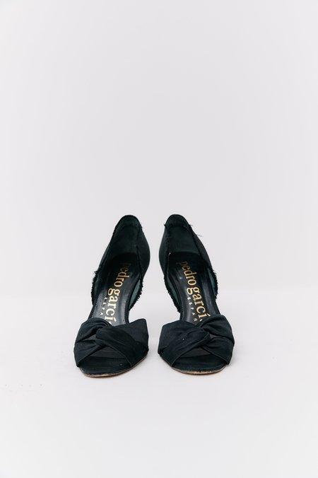 [Pre-Loved] Pedro Garcia Sateen Heels - Black