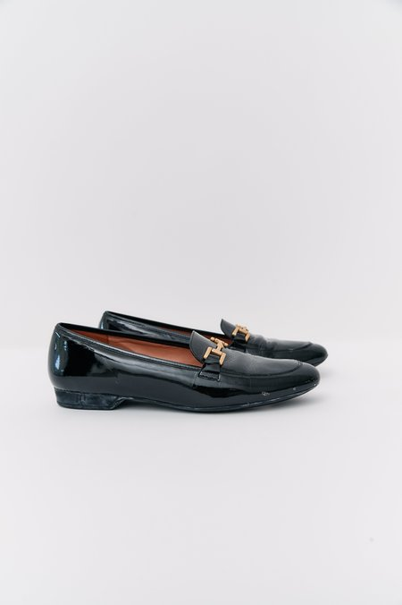 [Pre-Loved] Robert Clergerie Patent Leather Loafers - Black