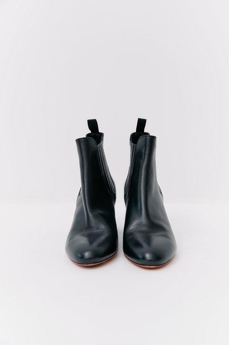 Santoni Leather Ankle Boots - Black