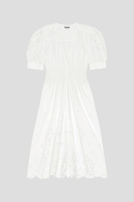 Ganni Broderie Anglaise Dress
