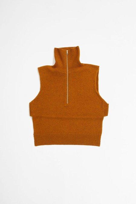 Dries Van Noten Taggia knitted top - orange