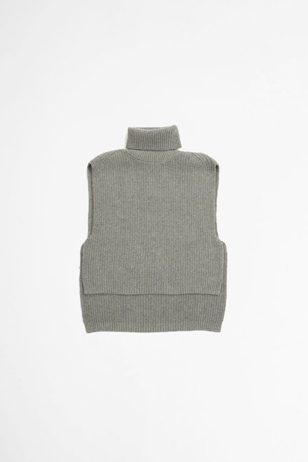 Dries Van Noten Tilburg knitted top - grey