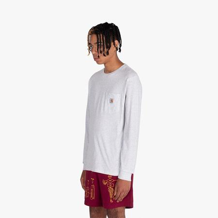 Carhartt WIP Long Sleeve Pocket T-shirt / Ash Heather