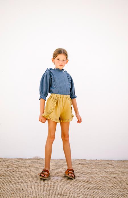 kids Liilu Bella Shorts - yellow
