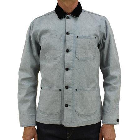 KATO The Vise Chore Jacket - Light Blue