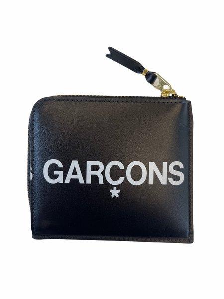 Comme des Garçons HUGE LOGO CORNER ZIP wallet - BLACK
