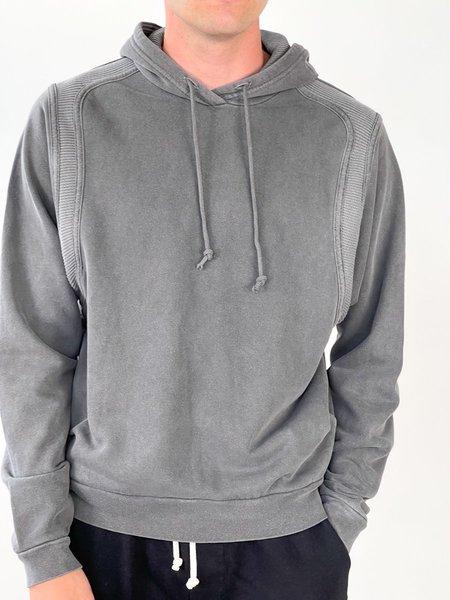 John Elliott THERMAL CROSS HOODIE sweater - gray