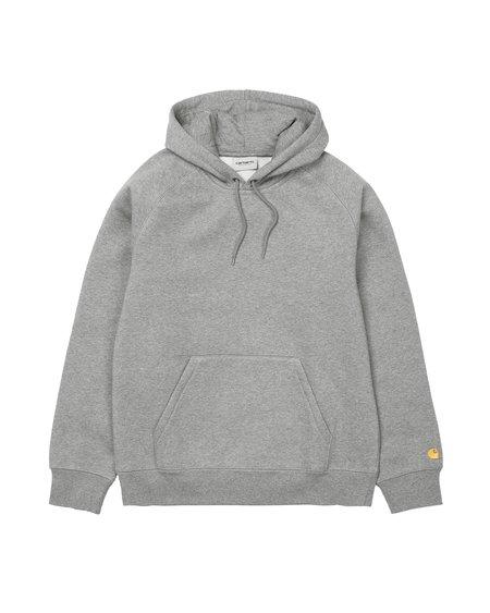 CARHARTT WIP Chase Hooded Sweatshirt - Grey Heather/Gold
