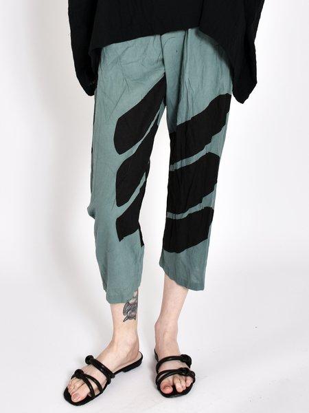 Uzi NYC Printed Pants - Teal Swipe